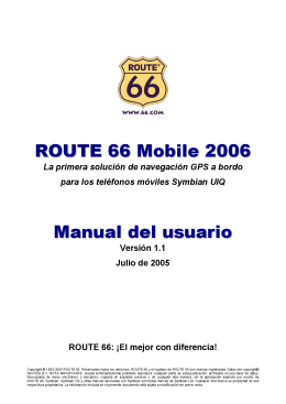 ROUTE 66 Mobile 2006 Manual del usuario