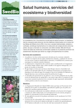 Salud humana, servicios del ecosistema y biodiversidad