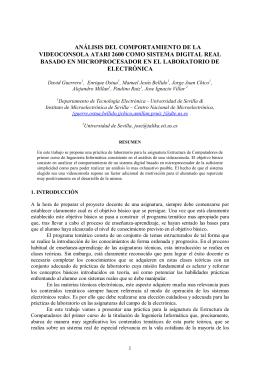 análisis del comportamiento de la videoconsola atari - e