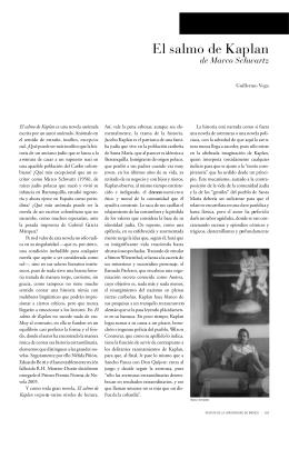 El salmo de Kaplan - Revista de la Universidad de México