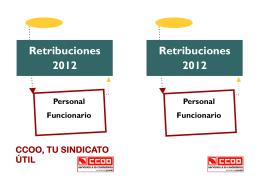 Retribuciones personal funcionario 2012