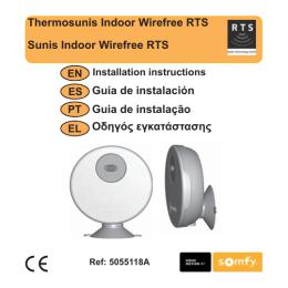 Thermosunis Indoor Wirefree RTS Guía de instalación Guia