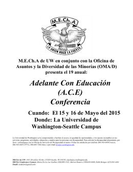 Adelante Con Educación (A.C.E) Conferencia