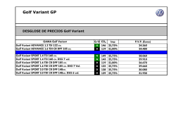 Catálogo GOLF Variant MY14