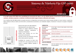 Sistema de Telefonía Fija GSP-2900