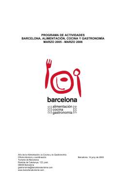 programa - Turisme de Barcelona