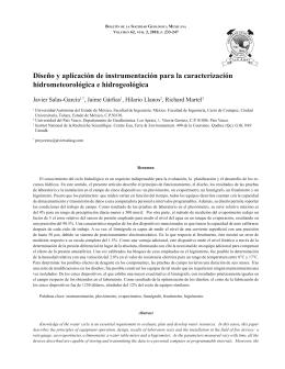 Diseño y aplicación de instrumentación para la caracterización