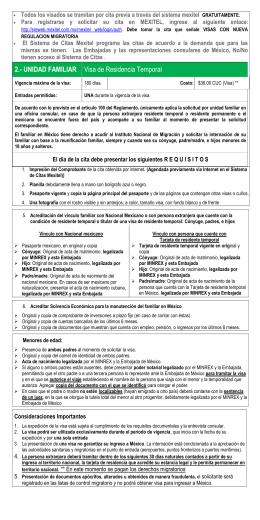 2.- UNIDAD FAMILIAR Visa de Residencia Temporal