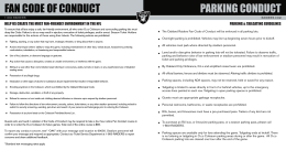 FAN CODE OF CONDUCT PARKING CONDUCT