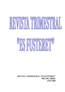 """revista trimestral """"es fusteret"""" - Fundación Instituto Socioeducativo S"""
