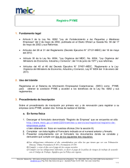 Instrucciones Registro PYME
