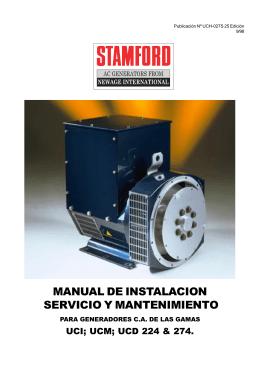 Manual del Generador Stamford UC224-274