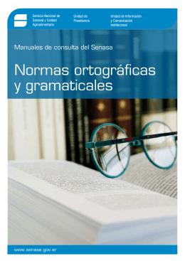Normas ortográficas y gramaticales - Intranet