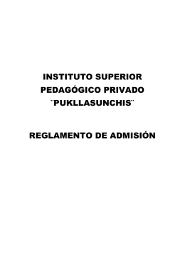INSTITUTO SUPERIOR PEDAGÓGICO PRIVADO