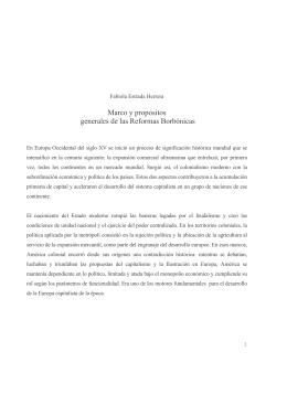 Reformas Borbónicas - Universidad Autónoma de Colombia