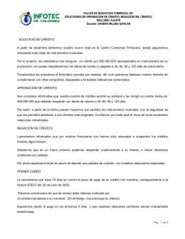 TALLER DE REDACCION COMERCIAL DE