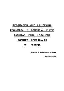 INFORMACION QUE LA OFICINA ECONOMICA Y COMERCIAL