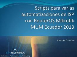 Automatización - MUM