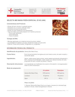 SELECTA MIX MASA PIZZA ESPECIAL 25 KG (490)
