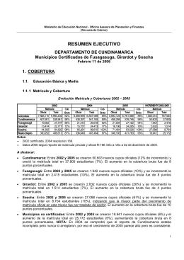 Perfil Educativo Departamental de Cundinamarca