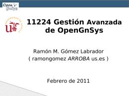 Curso 11224 Gestión Avanzada de OpenGnSys