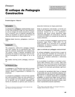 Ensayo El enfoque de Pedagogía Constructiva
