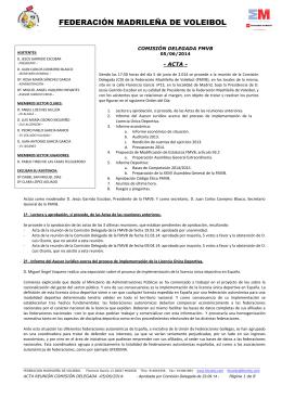 FEDERACIÓN MADRILEÑA DE VOLEIBOL