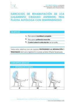 EJERCICIOS DE REHABILITACIÓN DE LCA