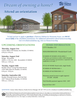 Dream of owning a home? Attend an orientation