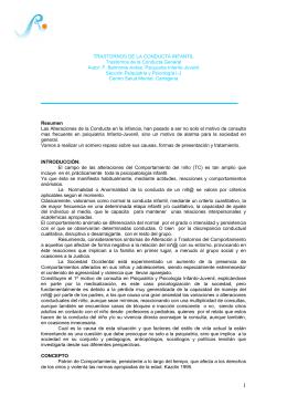 TRASTORNOS DEL COMPORTAMIENTO