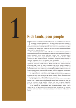 1 Rich lands, poor people - Centre for Science and Environment