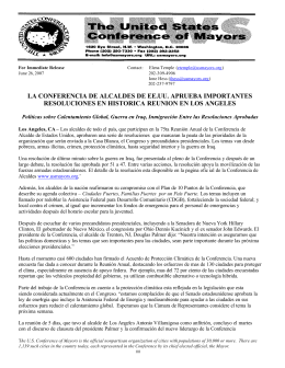 En Espanol: 75th Annual Meeting Press Release