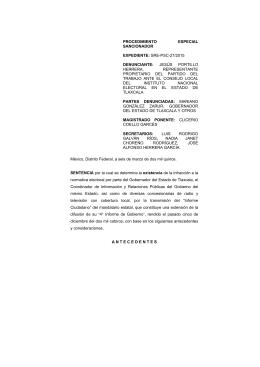 SRE-PSC - Tribunal Electoral del Poder Judicial de la Federación