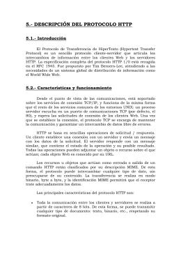 5.- DESCRIPCIÓN DEL PROTOCOLO HTTP