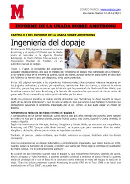 INFORME DE LA USADA SOBRE ARMSTRONG. Diario Marca