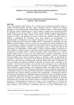 MODELO VINCULAR- ESTRATÉGICO DE PSICOTERAPIA