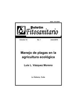 Manejo de plagas en la agricultura ecológica. INISAV. 2010