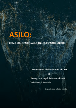 ¿como solicito asilo? - The University of Maine School of Law