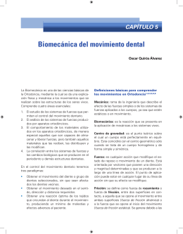 Biomecánica del movimiento dental
