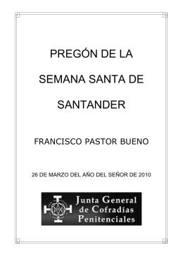 pregón de la semana santa de santander