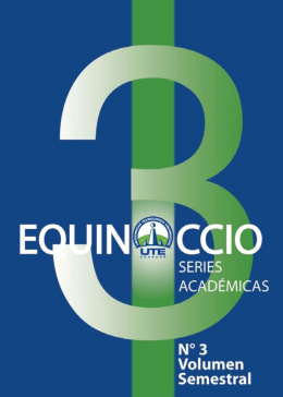 Revista EQUINOCCIO #3 Series Académicas