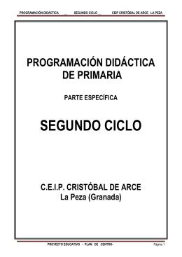 currículo de segundo ciclo