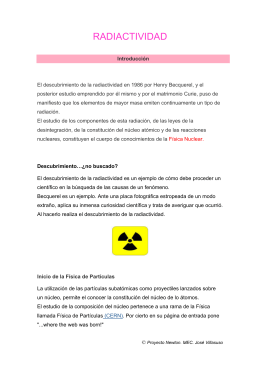 RADIACTIVIDAD - Proyecto Newton