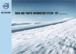 ROAD AND TRAFFIC INFORMATION SYSTEM - RTI L:7 :9>I