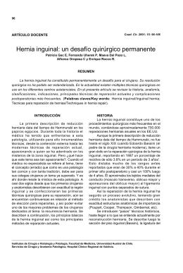 Hernia inguinal - Universidad Austral de Chile