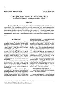 Dolor postoperatorio en hernia inguinal