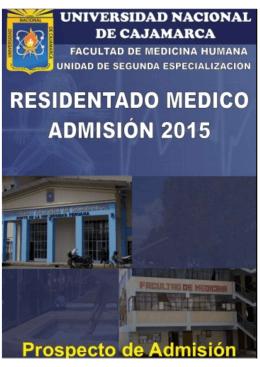 Residentado Médico - Universidad Nacional de Cajamarca