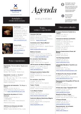 Feriasy exposiciones Actividades y Teatro, música y