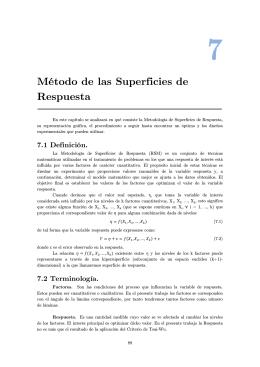 Método de las Superficies de Respuesta