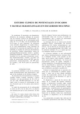 estudio clinico de potenciales evocados y bandas oligoclonales en